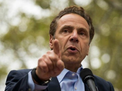 ew York Governor Andrew Cuomo speaks during a rally of hundreds of union members in support of IBEW Local 3 (International Brotherhood of Electrical Workers) at Cadman Plaza Park, September 18, 2017 in the Brooklyn borough of New York City. More than 1800 members of IBEW Local 3 are entering …