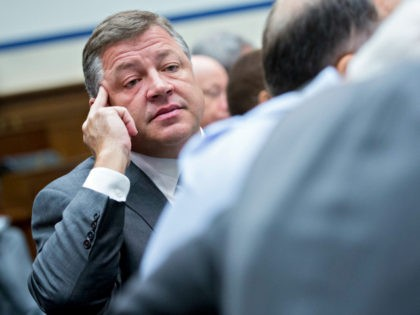Representative Bill Shuster, a Republican from Pennsylvania, listens during a House Highways and Transit Subcommittee roundtable discussion in Washington, D.C., U.S., on Thursday, Dec. 7, 2017. The roundtable focused on emerging technologies being utilized or explored in the trucking industry. Photographer: Andrew Harrer/Bloomberg via Getty Images