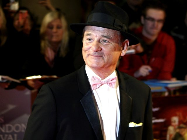 US actor Bill Murray arrives for the world premiere of his latest film 'Fantastic Mr Fox' , in central London, Wednesday Oct. 14, 2009. (AP Photo/Lefteris Pitarakis)