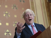 Britain's Foreign Secretary Boris Johnson presents a speech on Islamist terrorism to an audience of academics, diplomats and members of the media at the Foreign Office in London on December 7, 2017