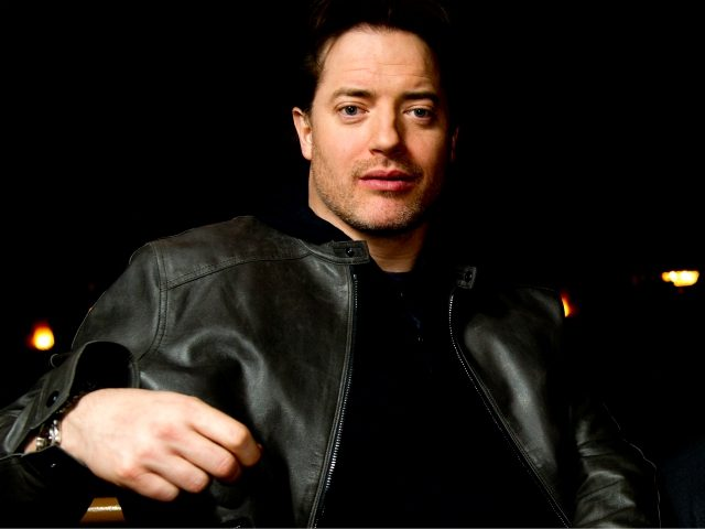 Actor Brendan Fraser poses for a portrait at the Ethel Barrymore Theatre in New York, Friday, Nov. 12, 2010. (AP Photo/Charles Sykes)
