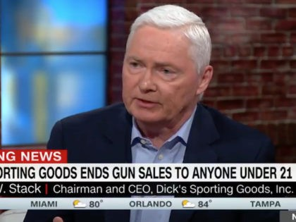 "Wednesday on CNN's ""New Day,"" Dick's Sporting Goods CEO Edward …"