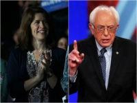 Carina Driscoll and Bernie Sanders