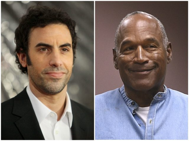 Sacha Baron Cohen O.J. Simpson Getty/AP
