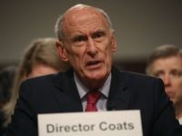 Director of National Intelligence Agency Dan Coats testifies during a Senate Armed Services Committee hearing on May 23, 2017