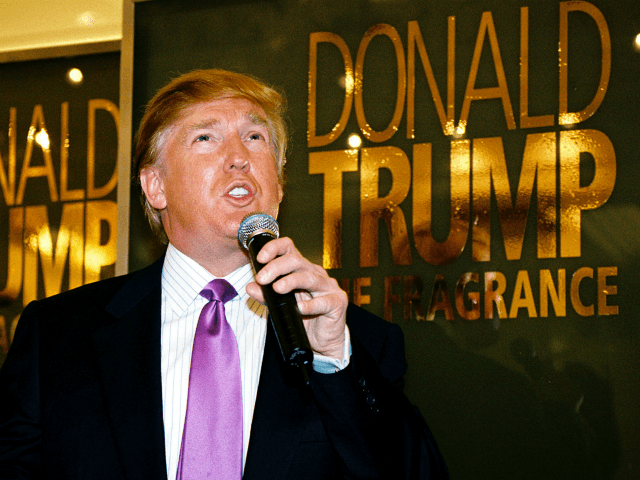 CHICAGO - DECEMBER 7: Real estate mogul Donald Trump makes a promotional appearance at Marshall Field's for his new cologne, The Fragrance, December 7, 2004 in Chicago, Illinois. (Photo by Scott Harrison/Getty Images)