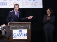 Gavin Newsom and Kamala Harris (Damian Dovarganes / Associated Press)
