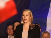 AVIGNON, FRANCE - DECEMBER 06: Marion Marechal Le Pen, vice-president of the French far-right Front National (FN) party and candidate for the regional elections in the Provence-Alpes-Cote d'Azur (PACA) region, speaks to supporters after the annoucement of the results on December 6, 2015 in Avignon, France. Marion Marechal Le Pen …