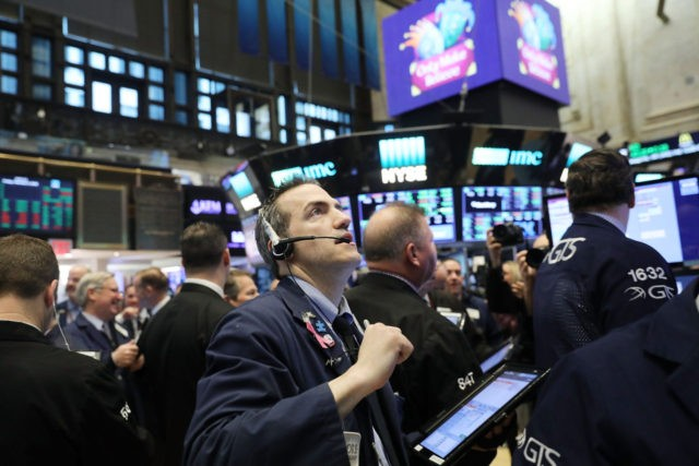 NEW YORK, NY - FEBRUARY 09: Traders work on the floor of the New York Stock Exchange (NYSE) Friday morning on February 9, 2018 in New York City. Following a drop in the Dow Jones Industrial Average of over 1,000 points yesterday, stocks opened higher on Friday with the Dow …