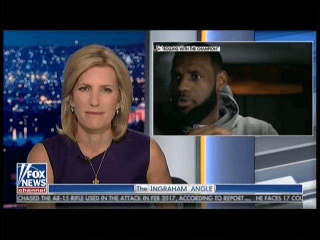 b9d077d38a3c ... Dwyane Wade and Philadelphia Eagles DE Chris Long attacked Fox News  host Laura Ingraham for her criticism of Cleveland Cavaliers star LeBron  James