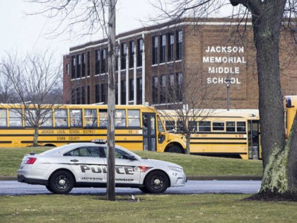 Jackson Memorial Middle School went into lockdown early Tuesday after the student shot himself in the men's restroom just before 8am.