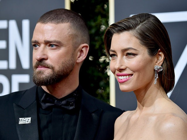 BEVERLY HILLS, CA - JANUARY 07: Justin Timberlake and Jessica Biel attend The 75th Annual Golden Globe Awards at The Beverly Hilton Hotel on January 7, 2018 in Beverly Hills, California. (Photo by Frazer Harrison/Getty Images)