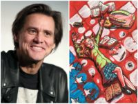 Jim Carrey Bloody Schoolgirl Painting Getty/Twitter