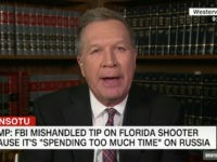 Kasich: Trump Tweeting FBI Missed FL Shooter Warning Because of Russia an 'Absurd Statement'