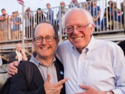 Jonathan Tasini and Bernie Sanders