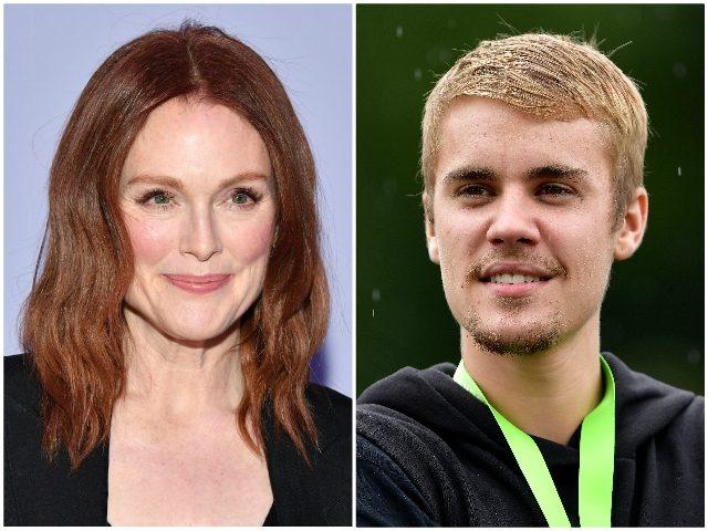 Julianne Moore Justin Bieber Getty