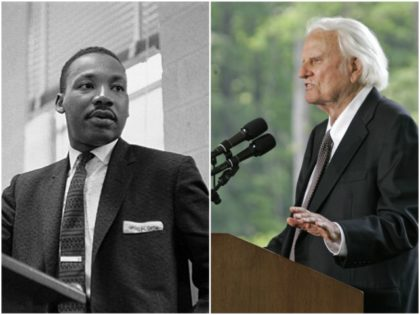 Dr. Martin Luther King and Rev. Billy Graham collage