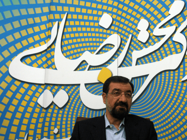 Iranian former chief of the Revolutionary Guards and presidential candidate Mohsen Rezai speaks during an interview with AFP in Tehran on May 29, 2009. Rezai will push for the creation of a global consortium to enrich uranium in the Islamic republic if elected, he told AFP. The veteran conservative and …