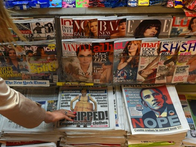 Newspapers on a newsstand
