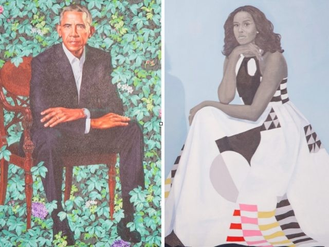 Obama portraits (Saul Loeb / Getty)