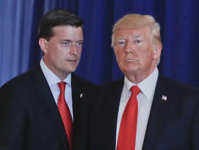 Rob Porter and Donald Trump (Pablo Martinez Monsivais / Associated Press)