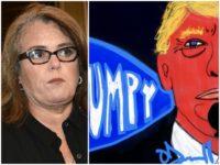 Rosie O'Donnell Anti-Trump Art Getty/Twitter