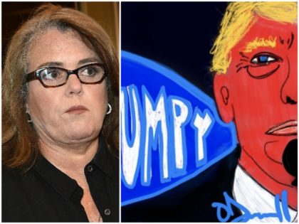 Rosie O'Donnell Anti-Trump Art Getty/Twitter