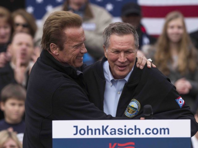 Schwarzenegger and Kasich (Ty Wright / Getty)