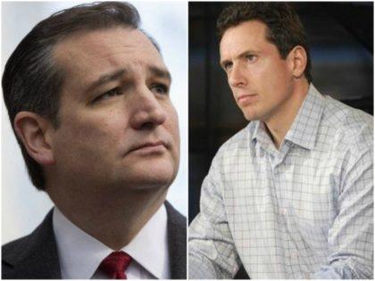 Collage of Sen. Ted Cruz and CNN pundit Chris Cuomo