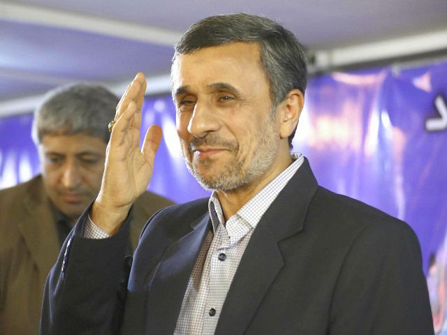 Photo taken April 5, 2017, in Tehran shows Iran's former President Mahmoud Ahmadinejad, who registered on April 12 to run in the presidential election in May. (Kyodo) ==Kyodo (Photo by Kyodo News via Getty Images)