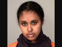 This photo provided by the Ramsey County Sheriff's Office shows Tnuza Jamal Hassan. A criminal complaint said Hassan, 19, a former student at St. Catherine University in St. Paul, admitted to investigators that she started the fires on Wednesday, Jan. 17, 2018, including one in a dormitory that housed a day care center. She's charged with first-degree arson. (Ramsey County Sheriff's Office via AP)
