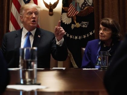 Trump and Feinstein (Alex Wong / Getty)