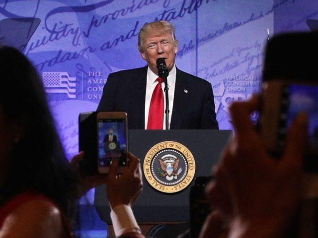 Trump at CPAC (Alex Wong / Getty)