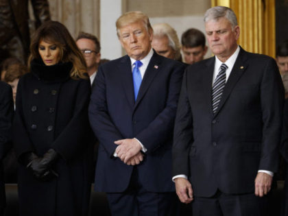 Donald Trump, Melania Trump, Franklin Graham