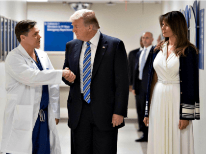 Trumps Visit Shooting Victims