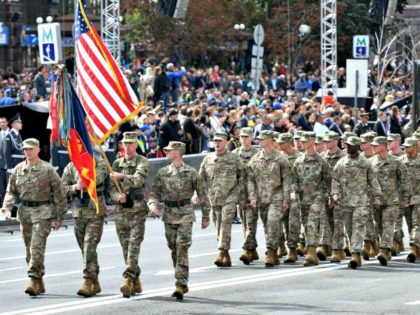 US Soldiers Parade Kiev