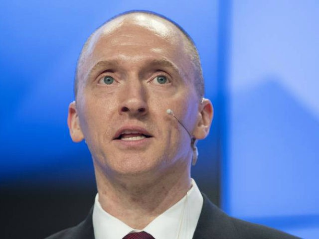 FILE - In this Dec. 12, 2016, file photo, Carter Page, a formerforeign policy adviser of U.S. President-elect Donald Trump, speaks ata news conferenceat RIA Novosti news agency in Moscow, Russia. A published report says the FBI obtained a court order to monitor communications of an adviser to then-candidate Donald …