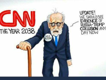 President Donald Trump shared a cartoon mocking CNN, a news …