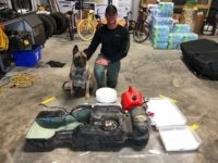 Fayette County Texas Deputy Sgt. Randy Thumann with K-9 Lobos and Meth Load.