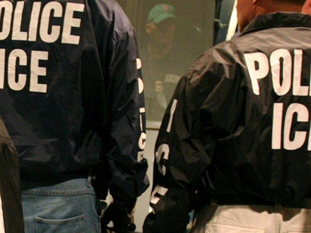 ICE agents making immigration arrest. AP File Photo