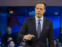 Jake Tapper, of CNN's State of the Union, speaks to a crowd at the Harvard Institute of Politics Forum before Trump Campaign Manager Kellyanne Conway and Clinton Campaign Manager Robby Mook enter the room for an event titled 'War Stories: Inside Campaign 2016' on December 1, 2016 in Cambridge, Massachusetts. …