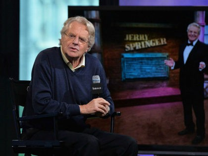NEW YORK, NY - MAY 19: Iconic television host Jerry Springer discusses 25 years of his TV show at AOL Build at AOL Studios In New York on May 19, 2016 in New York City. (Photo by Slaven Vlasic/Getty Images)