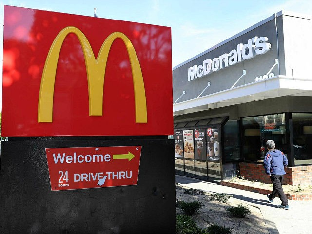 SAN FRANCISCO, CA - JANUARY 30: A sign is posted in front of a McDonald's restaurant on January 30, 2018 in San Francisco, California. McDonald's reported better-than-expected fourth quarter earnings with global same-store sales growing at the fastest pace in six years. Fourth quarter net income dropped 41 percent to …