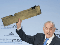 WATCH: 'Do Not Test Israel's Resolve,' Netanyahu Warns Iranian 'Tyrants' While Waving Piece of Drone