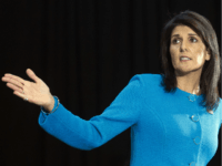 "U.S. Ambassador to the U.N. Nikki Haley speaks during a press briefing at Joint Base Anacostia-Bolling, Thursday, Dec. 14, 2017, in Washington. Haley says ""undeniable"" evidence proves Iran is violating international law by funneling missiles to Houthi rebels in Yemen. Haley unveiled recently declassified evidence including segments of missiles launched …"