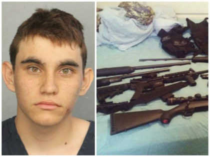 This photo posted on the Instagram account of Nikolas Cruz shows weapons lying on a bed. Cruz was charged with 17 counts of premeditated murder on Thursday, Feb. 15, 2018, the day after opening fire with a semi-automatic weapon in the Marjory Stoneman Douglas High School in Parkland, Fla. (Instagram …
