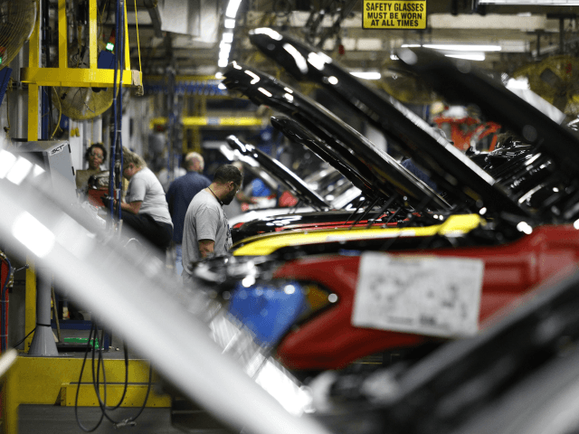 The all-new 2018 Ford Expedition SUV goes through the assembly line at the Ford Kentucky Truck Plant October 27, 2017 in Louisville, Kentucky. Ford recently invested $900 million in the plant for upgrades to build the all-new Expedition and Lincoln Navigator, securing 1000 hourly U.S. jobs. (Photo by Bill Pugliano/Getty …
