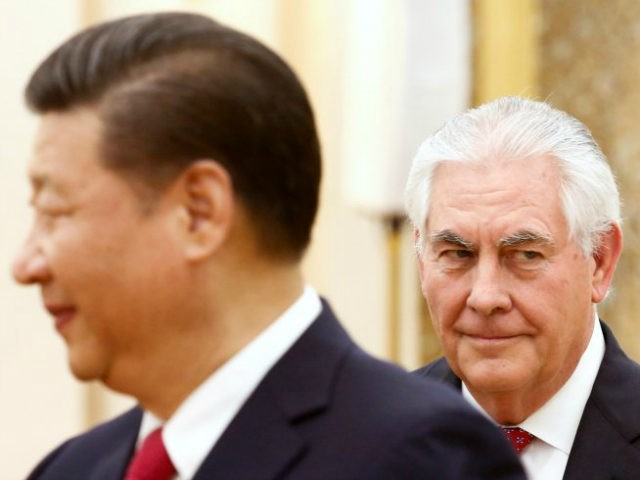 China's President Xi Jinping (L) meets US Secretary of State Rex Tillerson at the Great Hall of the People in Beijing, on March 19, 2017