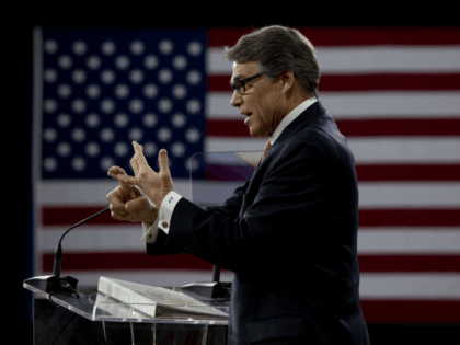Former Texas Gov. Rick Perry speaks during the Conservative Political Action Conference (CPAC) in National Harbor, Md., Friday, Feb. 27, 2015. (AP Photo/Carolyn Kaster)