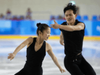 North Korea's Ryom Tae Ok, left, and Kim Ju Sik, perform during a Pairs Figure Skating training session prior to the 2018 Winter Olympics in Gangneung, South Korea, Saturday, Feb. 3, 2018. (AP Photo/Felipe Dana) Photo Credit: AP